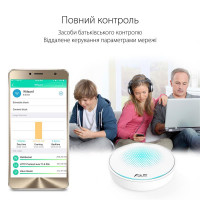 Wi-Fi Mesh система ASUS Lyra (MAP-AC2200-1PK) (AC2200, 1хGE WAN, 1xGE LAN, MU-MIMO, MESH, 7 антенн)